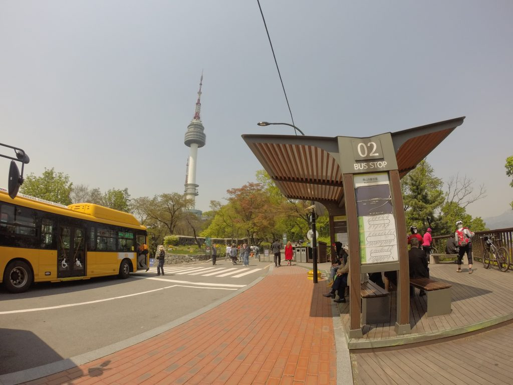 Bus Stop at N Seoul Tower