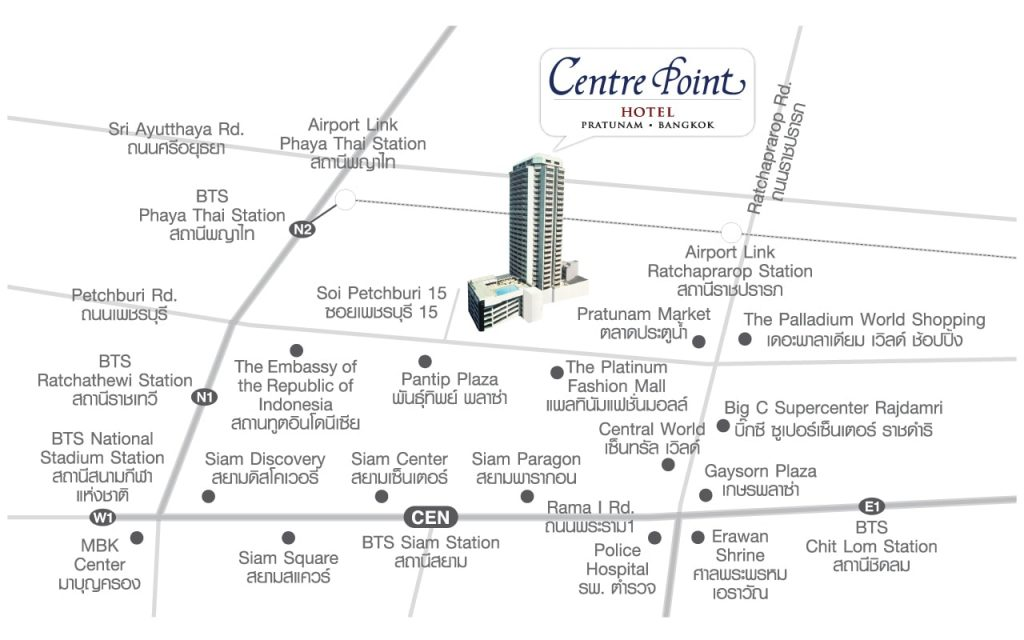 Centre Point Hotel Pratanum Map